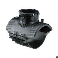Седелочный отвод 0225х0110 мм ПЭ100 SDR11 электросварной с ответной нижней частью