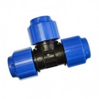 Тройник 0032 мм компрессионный