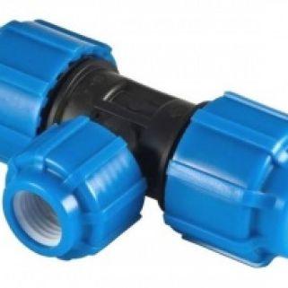 Тройник 0090*63*0090 мм компрессионный редукционный