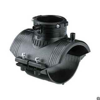 Седелочный отвод 0090х0032 мм ПЭ100 SDR11 электросварной с ответной нижней частью