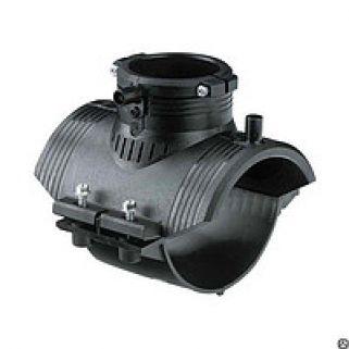 Седелочный отвод 0160х0063 мм ПЭ100 SDR11 электросварной с ответной нижней частью